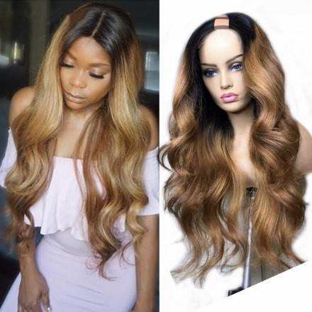 WoWEbony U Part Colored Wigs