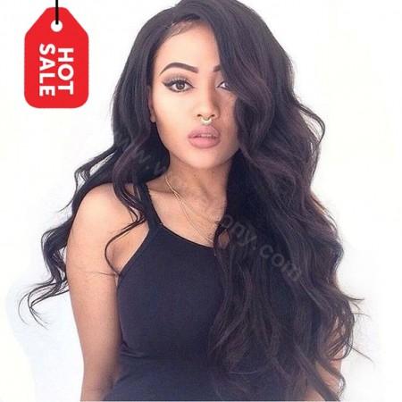 WowEbony Indian Remy Hair Super Wavy Lace Wigs [360SW01]