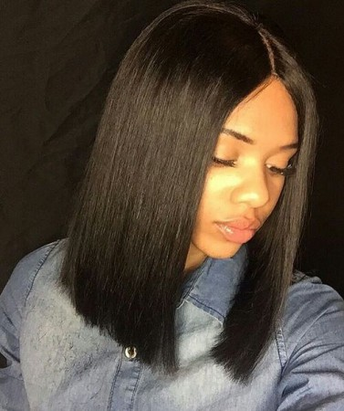 WowEbony Yaki Straight Blunt Bob Cut Bob 360 Lace Frontal Wig [360YSBC03]