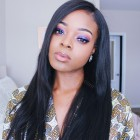180% density Brazilian Virgin Hair Pre-Plucked 360 Lace Wigs Yaki Straight [360YS06]