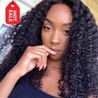 WowEbony Pre-plucked Hairline 360 Lace Wigs Kinky Curl, 4.5 inches Deep part, 150% density, Indian Remy Hair [360KC01]