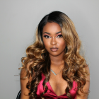 In Stock Glueless Lace Front Wigs Indian Remy Hair Ombre Highlight Color #2/27/4 20 inches [OMBREL022]