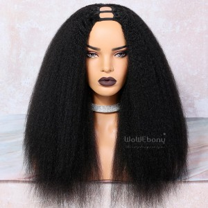 WowEbony Textured Kinky Straight U Part Wigs for Blow Out Natural Hair [UPT6]