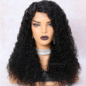 WowEbony 250% Density Loose Curl Glueless Lace Part Lace Wig Indian Remy Hair [LPLW15]
