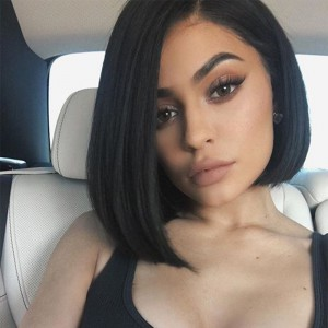 WowEbony Lace Front Wigs Indian Remy Hair Straight Asymmetrical Bob wig Left Side Part [BOBL02]