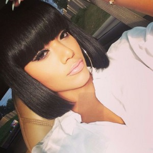 WowEbony Full Bangs yaki Straight Glueless Silk Top Non-Lace Wig Indian Remy Hair [STNLW04]