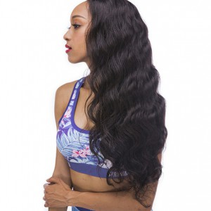 WowEbony Invisible HD Transparent Single Knots Chinese Virgin Hair Body Wave Lace Front Wigs [HDW05]