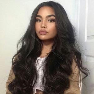 WowEbony Lace Front Wigs Brazilian Virgin Human Hair Big Body Wave [LFW057]