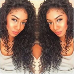 Glueless Full Lace Wigs Malaysian Virgin Hair Loose Curly [FLW45]