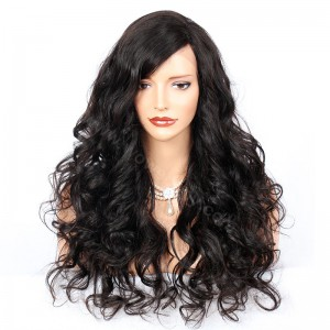 WowEbony Sexy Body Wave Lace Front Wigs Indian Remy Hair 4.5inch Deep Part  [IR4.5DPLFWSBW]