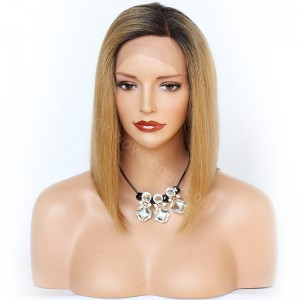 Glueless Lace Front Wigs Peruvian Virgin Hair Ombre Blonde Wigs [OMBREL016]