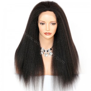 WowEbony Kinky Straight Lace Front Wigs Indian Remy Hair [LFW017]