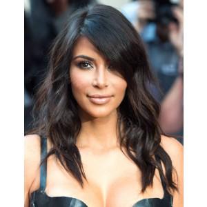 WowEbony Kim Kardashian Inspired Bob Cut Glueless Lace Front Wigs Indian Remy Hair Middle Length [BOBL18]