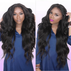 WowEbony Super Wavy Lace Front Wigs Brazilian Virgin Human Hair [LFW058]
