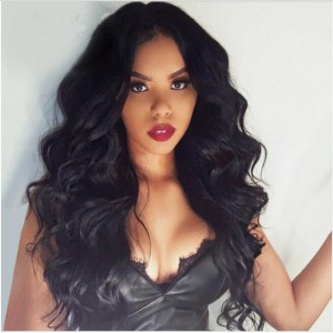 """150% density Indian Remy Hair Pre-Plucked 360 Lace Wigs 22.5""""*4.5""""*2 hand tied with Wefts Top Middle Part Body Wave [360BW01]"""