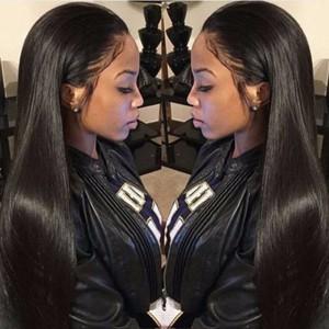 Pre-Plucked 150% density Brazilian Virgin Hair 360 Lace Wigs Yaki Straight [360YS05]