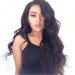 180% density Brazilian Virgin Hair 360 Lace Wigs Super Wavy