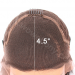Deep C Side Part Pre-plucked Hairline Lace Front Wigs Indian Remy Hair 10 inches Natural Color Cap Construction