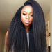 Glueless Full Lace Wigs Indian Remy Hair Italian Yaki Straight