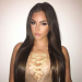 Lace Front Wigs Indian Remy Hair Long Yaki Straight Hair Wig