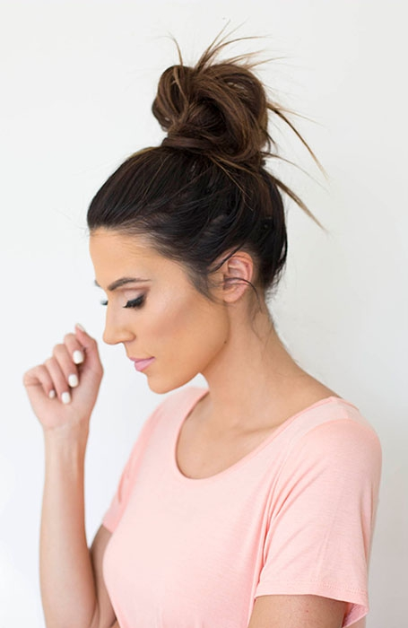 Messy Bun for Medium Hair