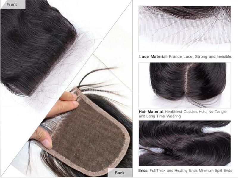 human hair lace closure