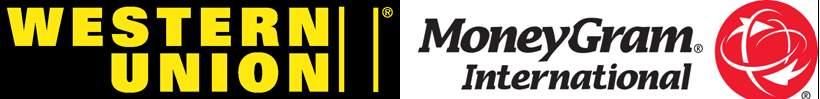 Western Union and money gram