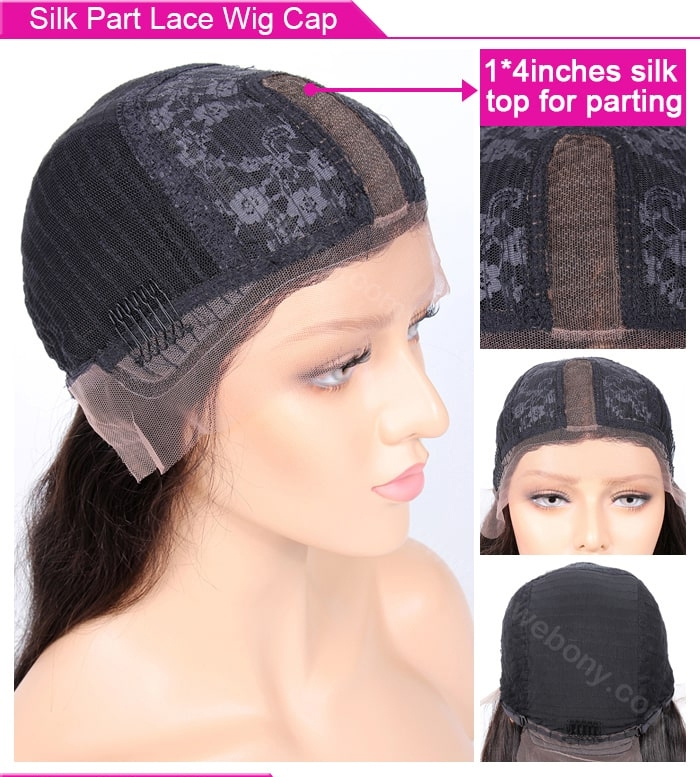 Silk Part Lace Wig Cap