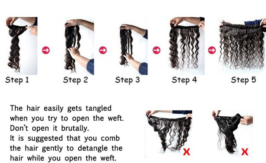 How to open a bundle of weft