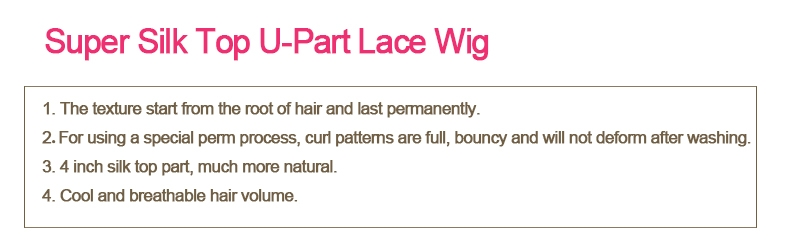 Super Silk top Lace part lace wig